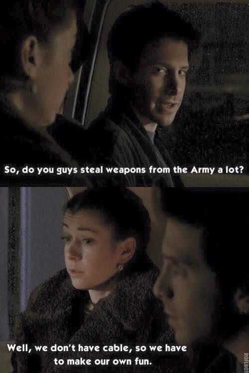 willow oz do you guys steal weapons a lot well we don't have cable so we have to make our own fun